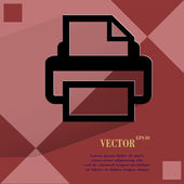 Printer. Flat modern web design on a flat geometric abstract background  — Stock Vector