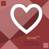Heart. Flat modern web design on a flat geometric abstract background  — Vettoriale Stock