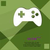 Gaming Joystick. Flat modern web design on a flat geometric abstract background  — Stock Vector