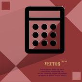 Calculator. Flat modern web design on a flat geometric abstract background  — Stock Vector