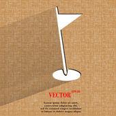 Golf flag. Flat modern web design on a flat geometric abstract background  — Stockvektor