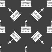 Web 蛋糕的图标。平面设计。无缝的灰度模式. — 图库矢量图片