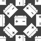 Car battery web icon. flat design. Seamless gray pattern. — Stock Vector