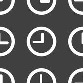 Watch web icon. flat design. Seamless pattern. — Vector de stock