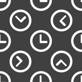 Watch web icon. flat design. Seamless pattern. — ストックベクタ