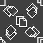 Blank paper web icon. flat design. Seamless pattern. — Stock Vector