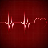 Heart rhythm ekg — Stock Vector