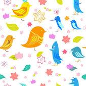 Bird seamless pattern — Stok Vektör
