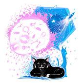 Dreams of cats — Stock Vector