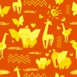 Africa seamless pattern — Stock Vector