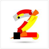Suprematist alphabet. Geometric numbers — Stock Vector