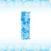 Snow alphabet. Letters from snowflakes — Stock Vector