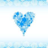 Snow alphabet. Symbols of the snow — Stock Vector