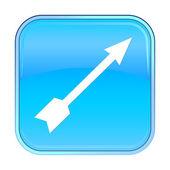 Icône isolé web bleu sur fond blanc. — Vecteur