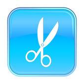 Pojedyncze niebieskie ikony internetowych na białym tle. — Wektor stockowy