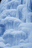 Ice-fall in mountains in the wild, north China — Stock Photo