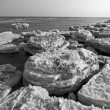 Coast residual ice natural scenery — Stockfoto