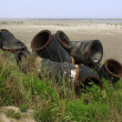 Стоковое фото: Wasted objects, blowing sand pipe