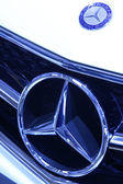 Benz A-class cars brand in a car sales shop, Tangshan, China — Stock Photo