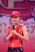 The famous singer Guo Tao singing songs on stage, china — Stock Photo