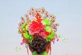 Hair decoration for Spring Festival yangko dance in china — Stock Photo