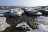 Coast residual ice natural scenery — Foto de Stock