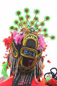 Hair decoration for Spring Festival yangko dance in china — Stock Photo