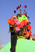 Hair decoration for Spring Festival yangko dance dance in china — Stock Photo