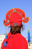 Young man's hat for Spring Festival yangko dance in china — Stock Photo