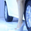 High heeled shoes of car model — Stock Photo #32164031