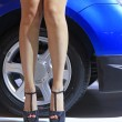High heeled shoes of car model — Stock Photo #32164731