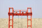 Crane steel bracket — Stock Photo