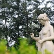 Lady nude stone sculpture in the Stone Door park, Shijiazhuang, — Stock Photo