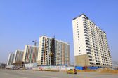 High rise residential buildings and roads in a city — Стоковое фото