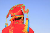 Young man's hat for Spring Festival yangko dance dance in china — Stock Photo