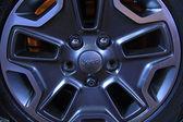 Jeep off road vehicle wheels — Stock Photo