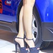 High heeled shoes of car model — Stock Photo #33650655