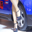 High heeled shoes of car model — Stock Photo #33654187
