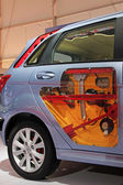 Automobile internal structure on display in TangShan, China — Stock Photo