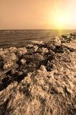 Scenario naturale di ghiaccio residuo costa — Foto Stock