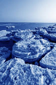 Coast residual ice natural scenery — Stock Photo