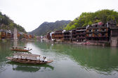 Tuojiang River both banks scenery in Phoenix County, china — Stock Photo