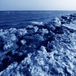 Coast residual ice natural scenery — Stock Photo