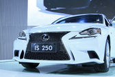 Lexus IS 250 cars on display in a car sales shop, Tangshan, Chi — Stock Photo