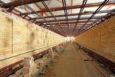 Health ceramics tunnel kiln building internal structure — Stock Photo