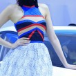 Female models in auto show, China — Foto Stock #33689733
