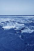 Paysages naturels de la côte de glace résiduelle — Photo