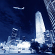 Night scenes of beijing financial center district — Stock Photo #33695661