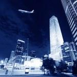 Night scenes of beijing financial center district — Stock Photo