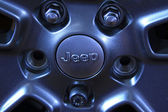 Jeep off road vehicle wheels — Stock Photo